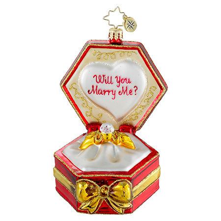 Diamonds Are Forever Engagement  (retired) Radko Ornament