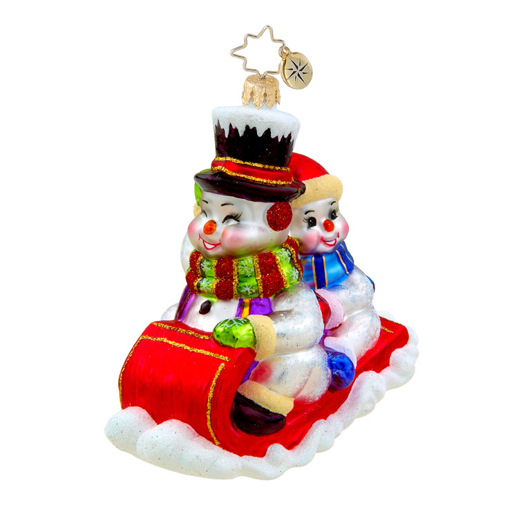 Down The Hill We Go Snowman  (retired) Radko Ornament