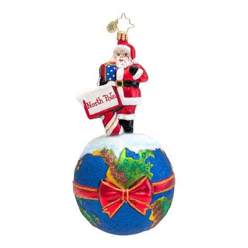 Due North Santa  (retired) Radko Ornament