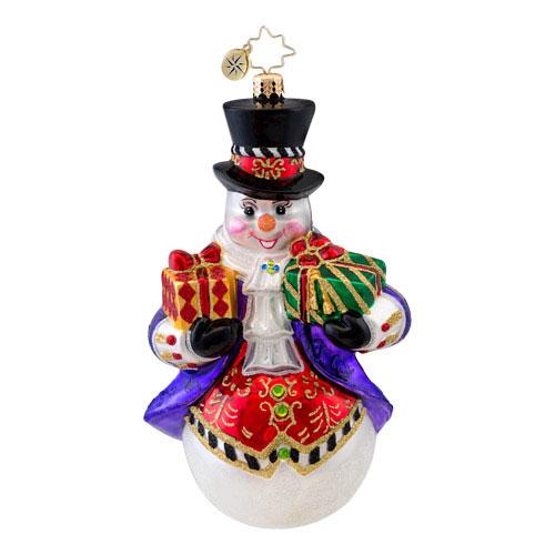 Elegant Alan Snowman Radko Ornament