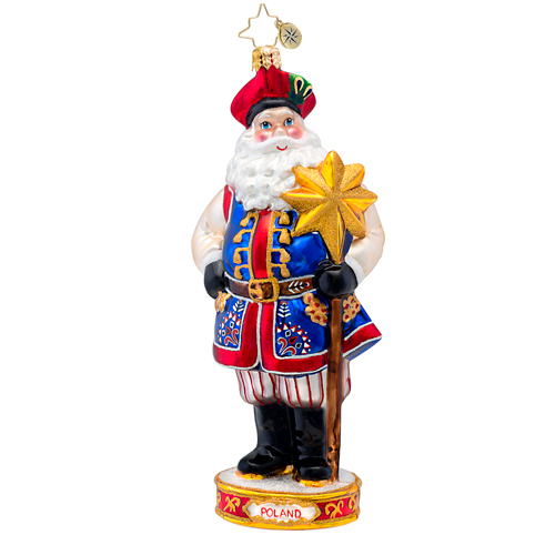 Family Heritage Poland Santa Ornament Radko Ornament