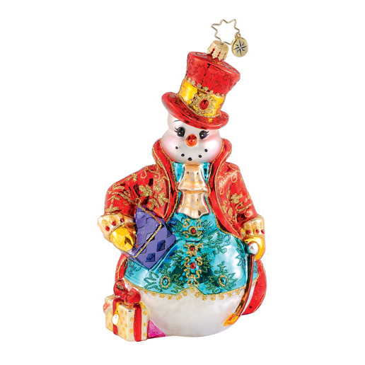 Fancy Fella Snowman  (retired) Radko Ornament