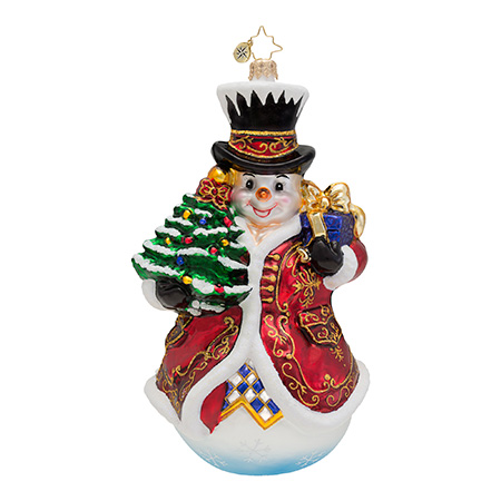 Fancy Frosty Snowman Radko Ornament