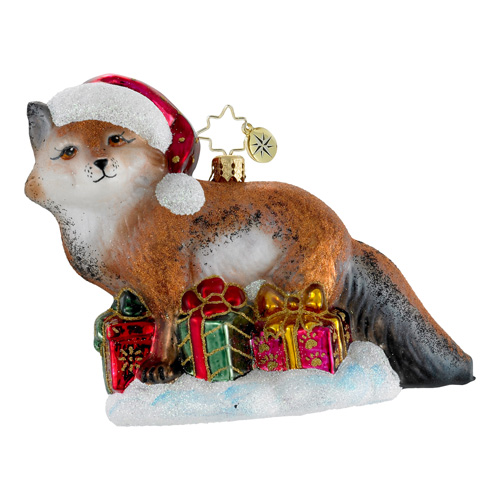 Festive Fox  (retired) Radko Ornament