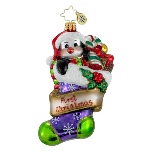 First Christmas Cutie  (retired) Radko Ornament