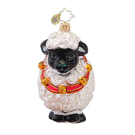 Fleece As White As Snow Sheep  (retired) Radko Ornament