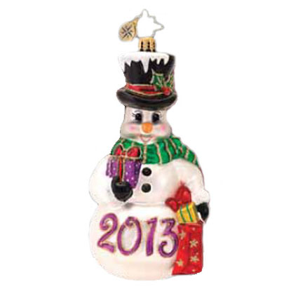 Fond Of Frosty 2013 Dated Snowman  (retired) Radko Ornament