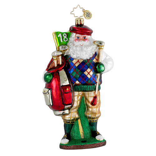 Fore! The Holidays Santa Golf  (retired) Radko Ornament