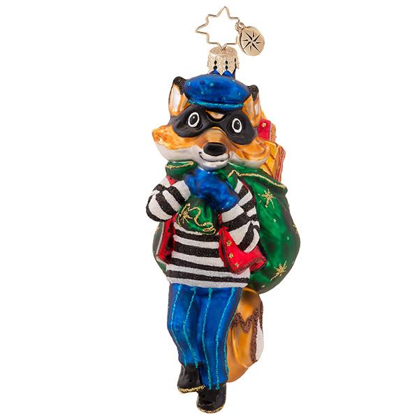 Foxy Bandit Radko Ornament