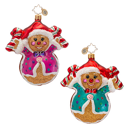 Fred And Ginger Gingerbread  (retired) Radko Ornament