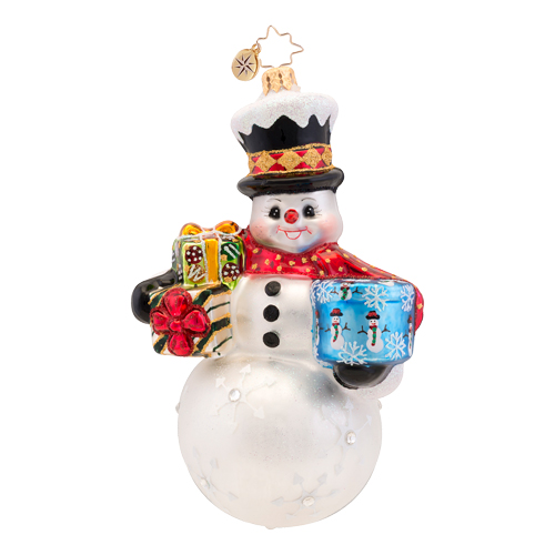 Frosty Delivery Radko Ornament