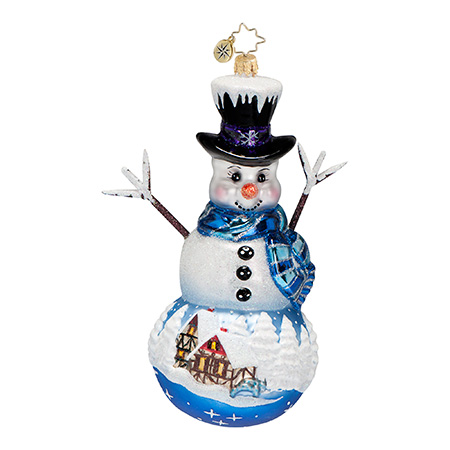 Frosty Memory Lane Snowman  (retired) Radko Ornament
