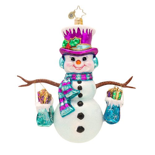 Frosty Shopper Radko Ornament