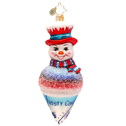 Frosty Snowcone Radko Ornament