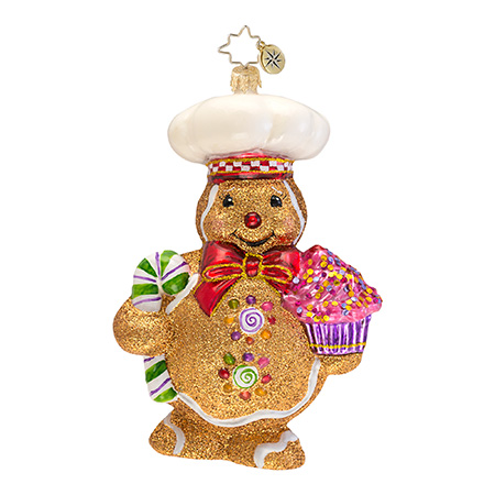 Ginger Baker Gingerbread Radko Ornament