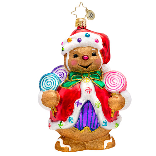 Ginger Sweet Santa Claus Radko Ornament