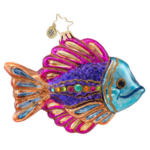 Glamorous Gill Fish  (retired) Radko Ornament