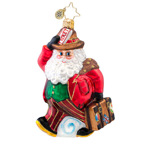 Going On Holiday Santa  (retired) Radko Ornament