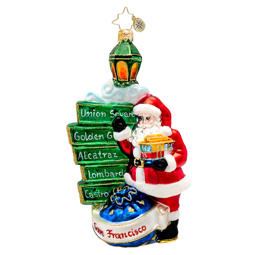 Golden City Claus San Francisco Santa  (retired) Radko Ornament