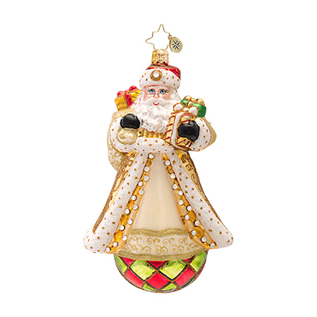 Golden Glamour Santa  (retired) Radko Ornament