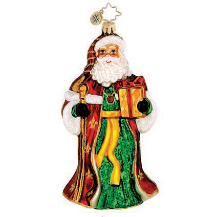 Golden Glow Santa  (retired) Radko Ornament