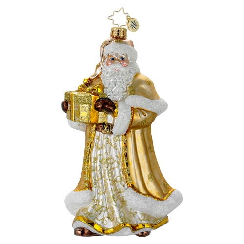 Golden Jubilance Santa  (retired) Radko Ornament
