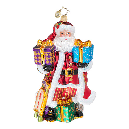 Good Year For Cheer Santa  (retired) Radko Ornament
