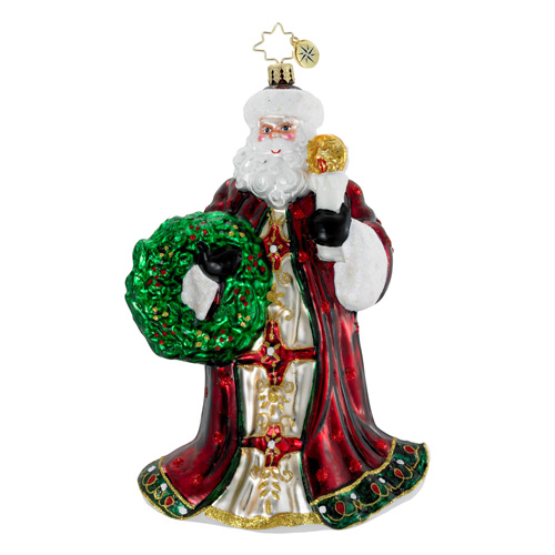 Guiding Light Santa  (retired) Radko Ornament