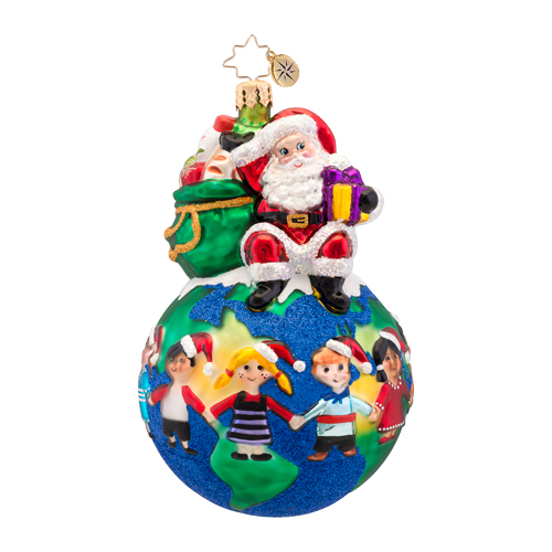 Hands Across The World Hunger Charity Radko Ornament