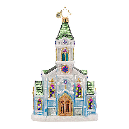 Heavenly Halls Church  (retired) Radko Ornament