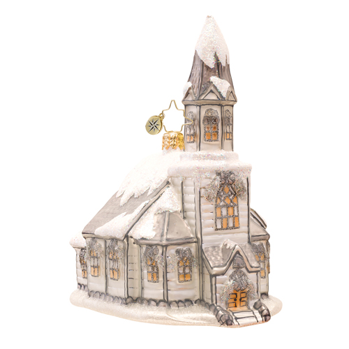 Heavenly Winter Cathedral Ornament Radko Ornament