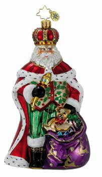 His Royal Highness Santa  (retired) Radko Ornament