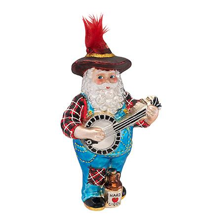 Ho Ho Hoedown Santa  (retired) Radko Ornament