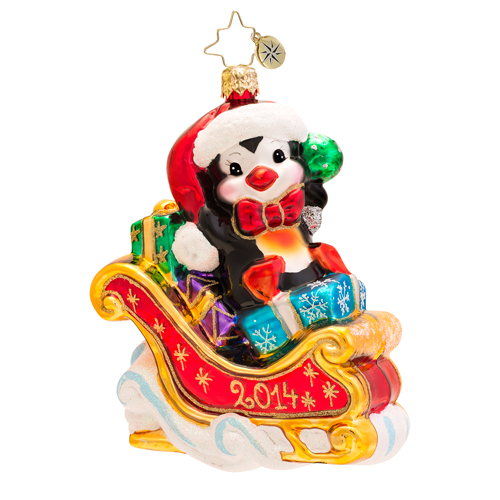 Hold On Charlie 2014 Dated  (retired) Radko Ornament