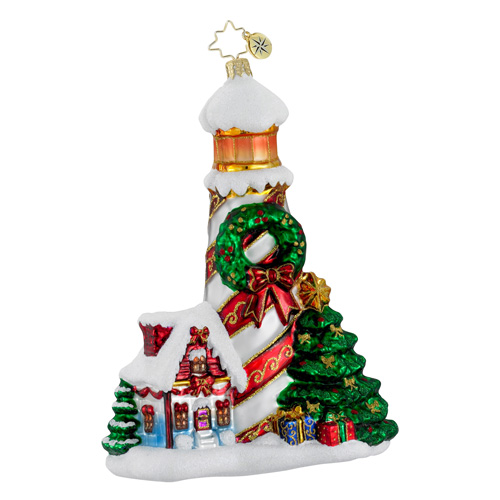 Holiday Beacon Lighthouse  (retired) Radko Ornament