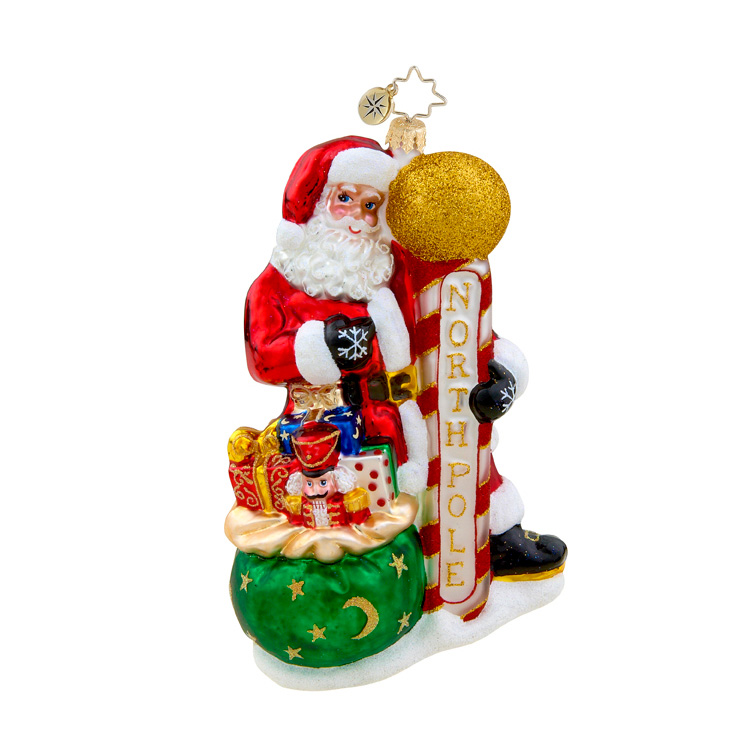Home Base Santa  (retired) Radko Ornament