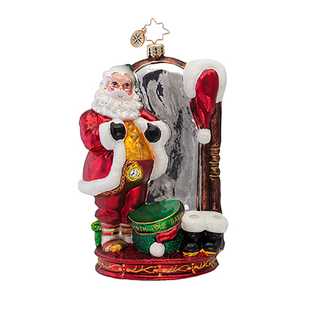 How Do I Look? Santa  (retired) Radko Ornament