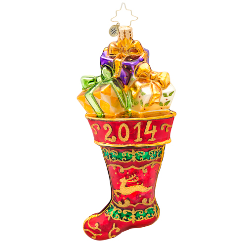 Hung By The Chimney This Year 2014 Dated  (retired) Radko Ornament