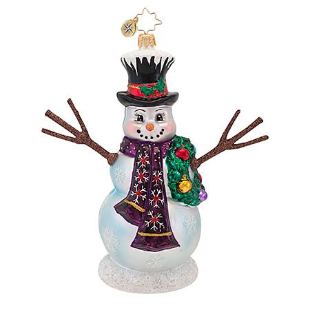 In The Meadow Snowman Radko Ornament