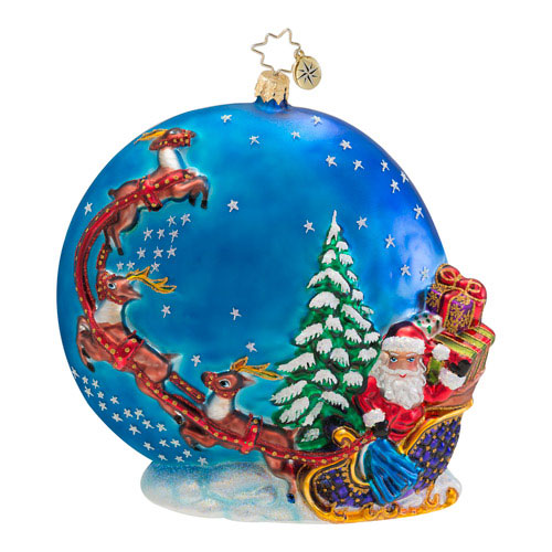 Into The Starry Night Santa  (retired) Radko Ornament