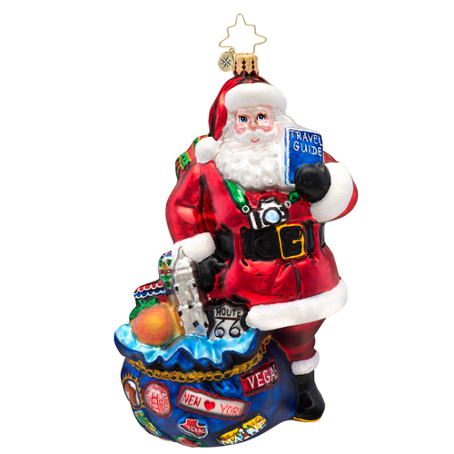I've Been Everywhere Traveling Santa Radko Ornament