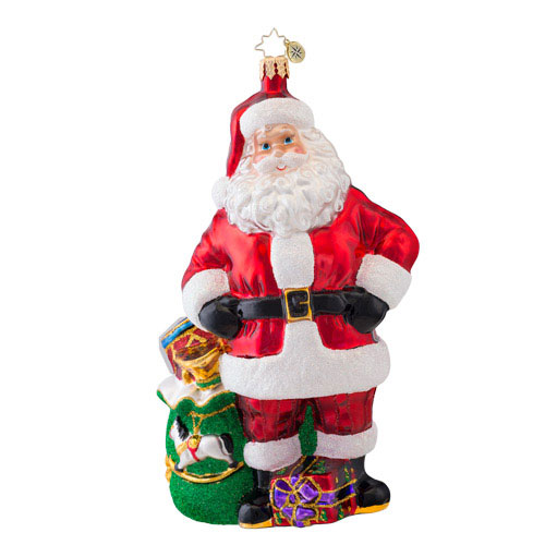 Job Well Done Santa  (retired) Radko Ornament