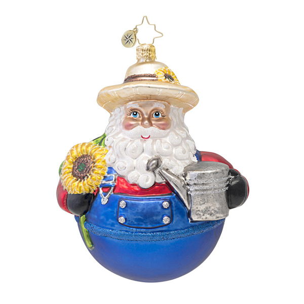 Jolly Good Gardener Santa  (retired) Radko Ornament