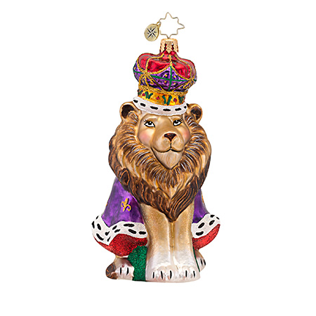 King Leo Lion Animal  (retired) Radko Ornament