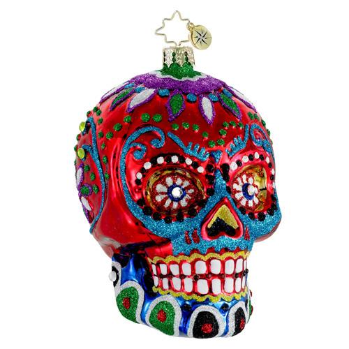 La Calavera Skull Radko Ornament