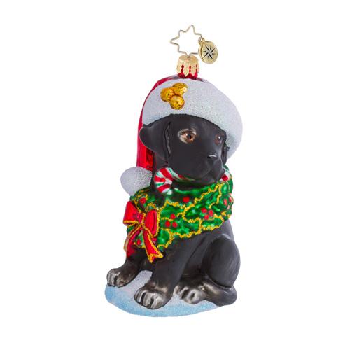 Labrador Lucky Dog  - Black Radko Ornament