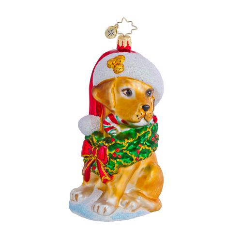 Labrador Lucky Dog Radko Ornament