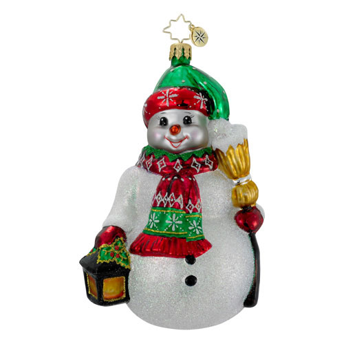Lighting The Way Snowman  (retired) Radko Ornament