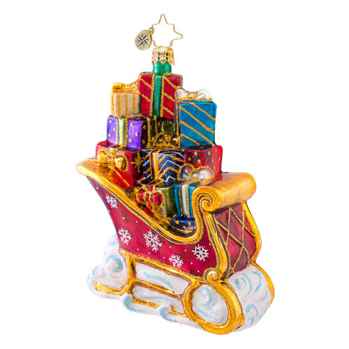 Loaded With Cheer Sleigh Radko Ornament