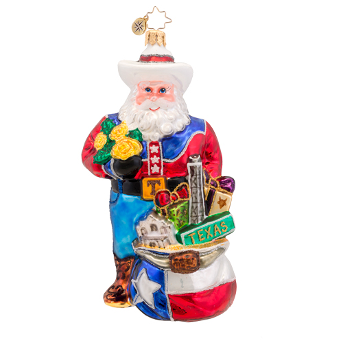Lone Star Santa Texas Radko Ornament